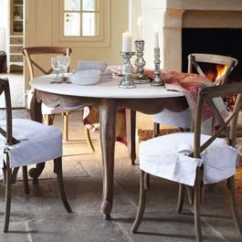 Tisch Narbonne antikbraun/weiss