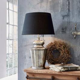 Tischlampe Sarcé antiksilber/schwarz