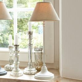 Tischlampe Swindon antikweiss/beige