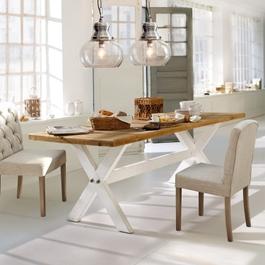 Tisch Covington braun/antikweiss