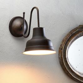 Wandlampe Sidney braun/weiss