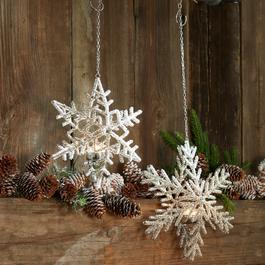 Teelichthalter 2er Set Snow