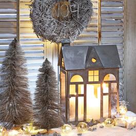 Laterne Sweet Home antikgrau