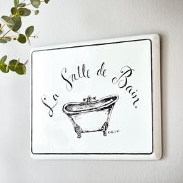 Deko-Schild La salle de bain