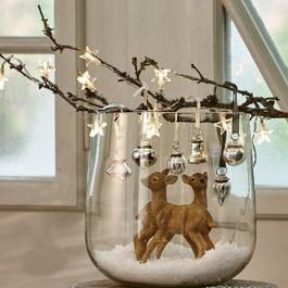 Weihnachtsschmuck 6er Set Levier antiksilber