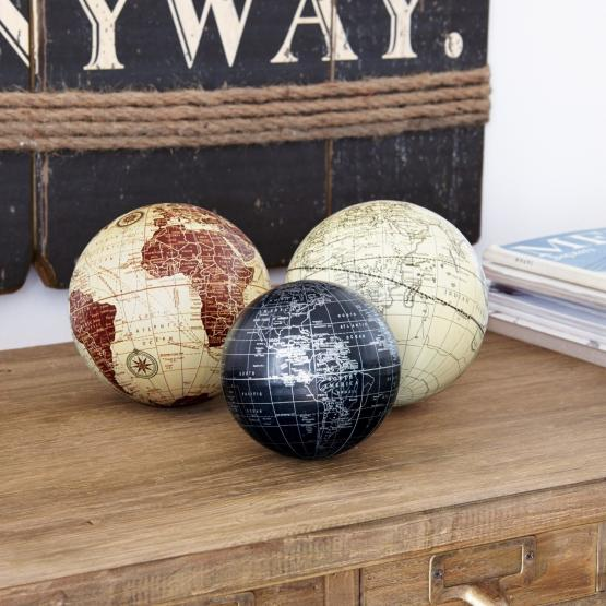 Deko-Kugeln 3er Set World