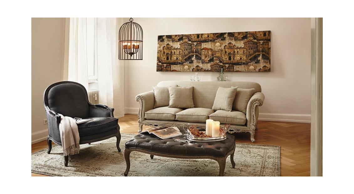 Französischer Stil Hält Einzug Ins Wohnzimmer