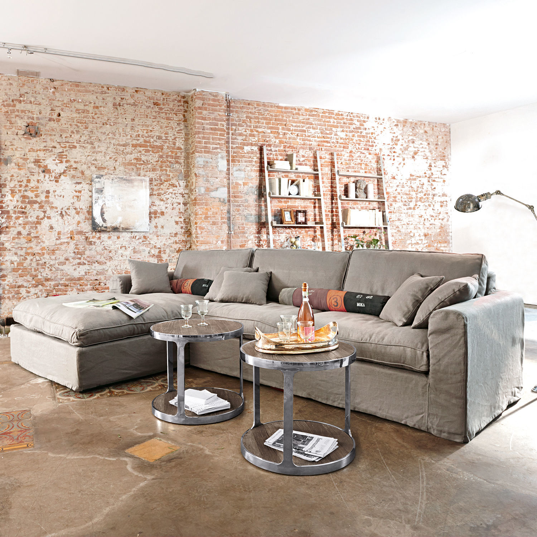 sofa seaford grau loberon. Black Bedroom Furniture Sets. Home Design Ideas