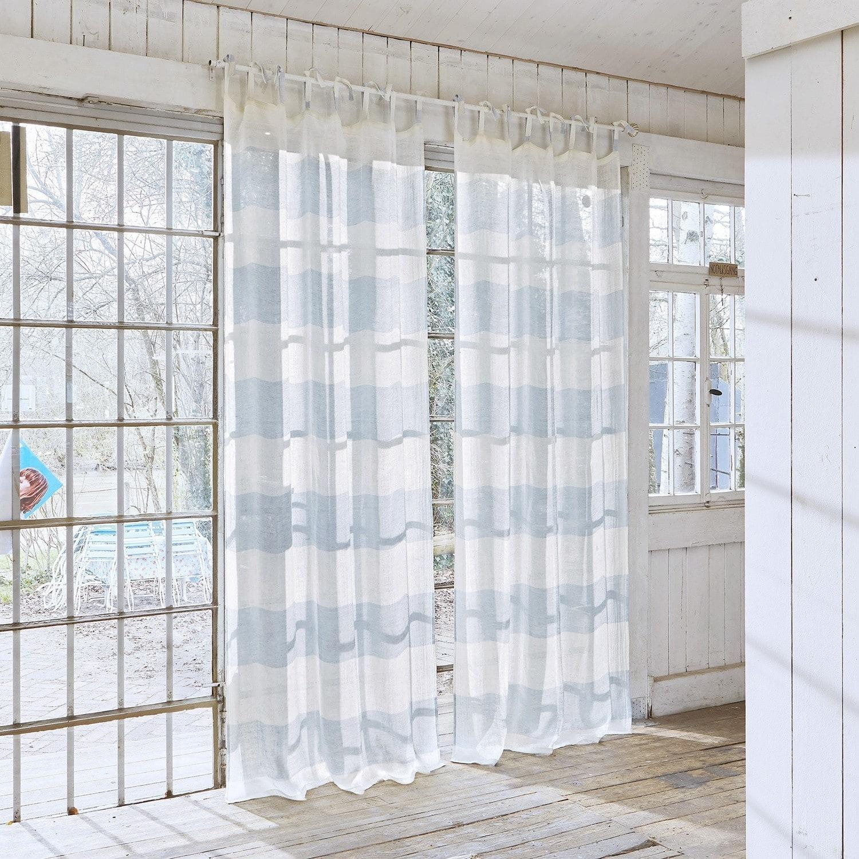gardine mierta blau wei loberon. Black Bedroom Furniture Sets. Home Design Ideas