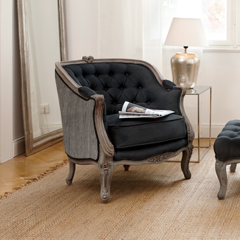 sessel annezay schwarz loberon. Black Bedroom Furniture Sets. Home Design Ideas