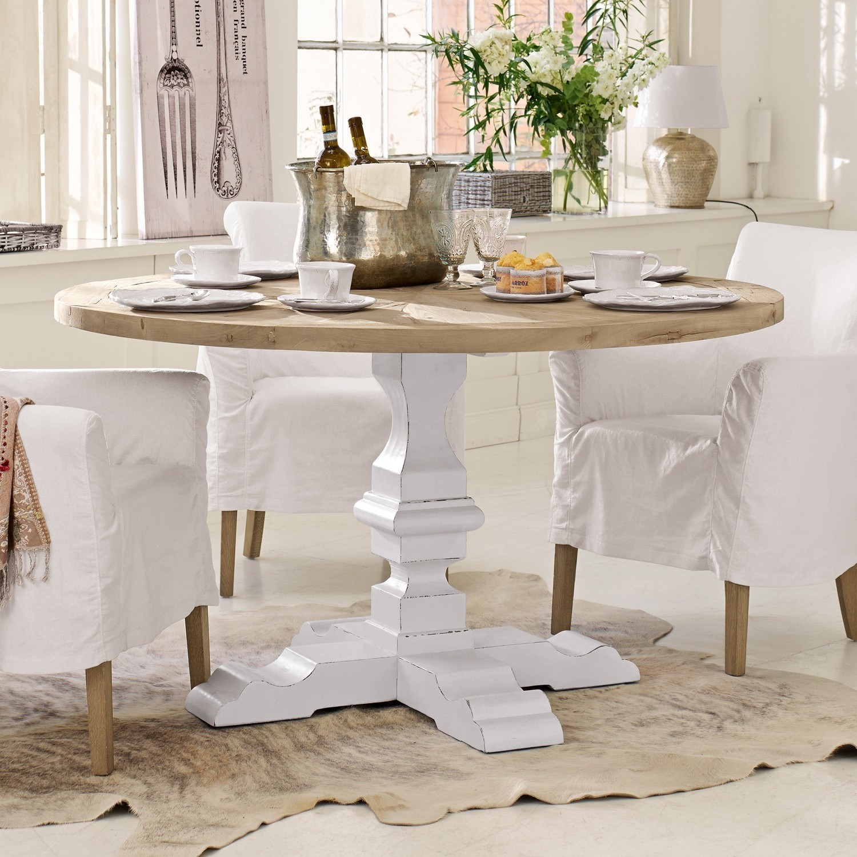 tisch sturbridge braun wei loberon. Black Bedroom Furniture Sets. Home Design Ideas