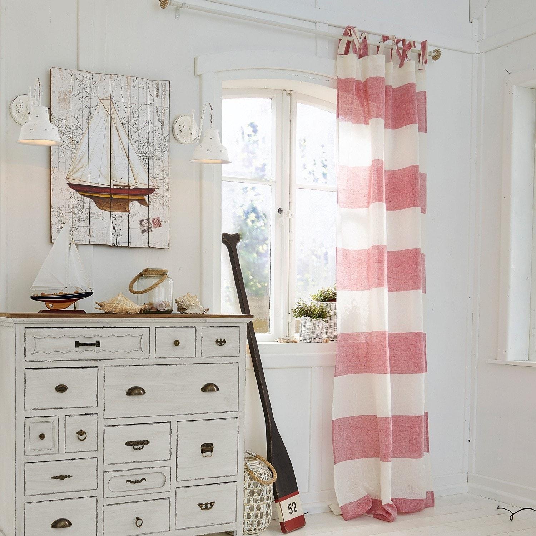 gardine mierta rot wei loberon. Black Bedroom Furniture Sets. Home Design Ideas