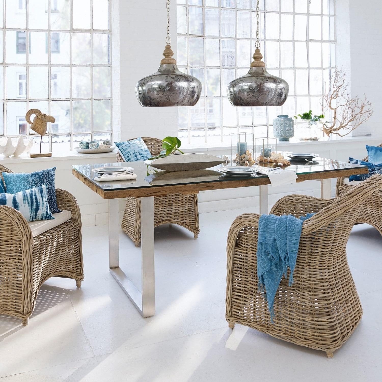 tisch malroy braun silber loberon. Black Bedroom Furniture Sets. Home Design Ideas