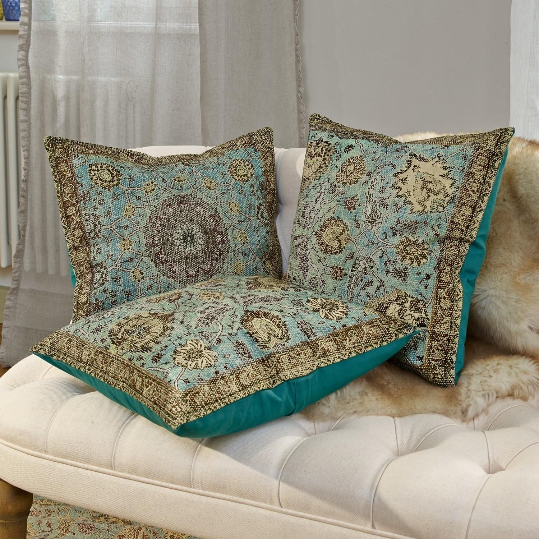 kissenh lle 3er set candice t rkis loberon. Black Bedroom Furniture Sets. Home Design Ideas