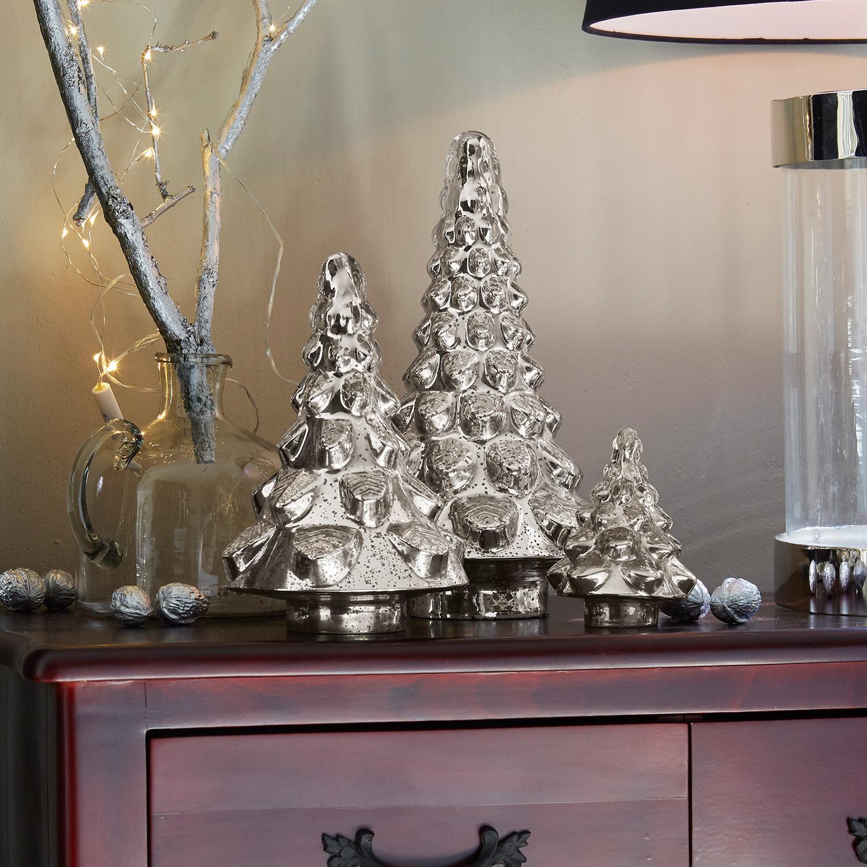 Deko baum 3er set felleys loberon - Deko baum weihnachten ...