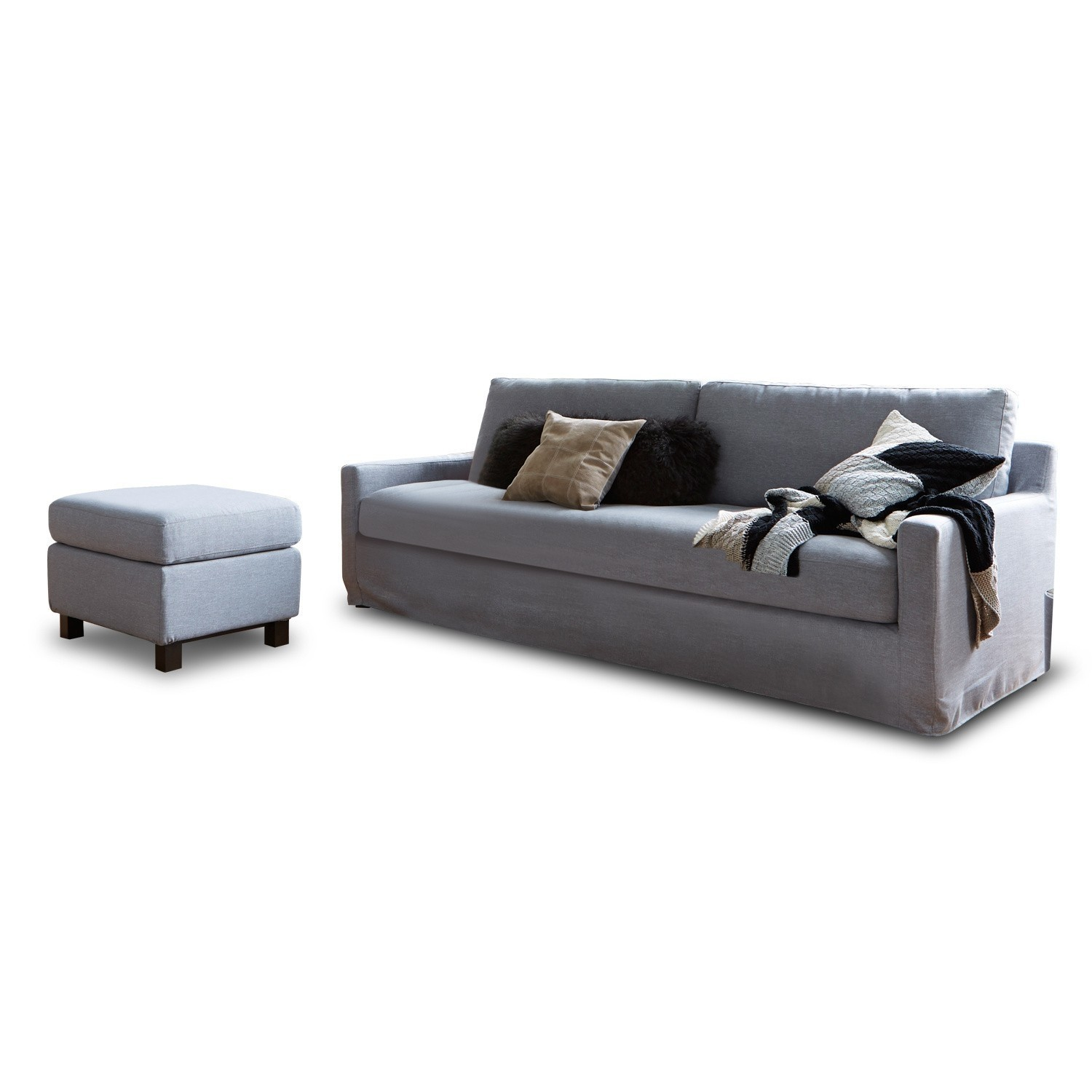 sofa mit hocker burie loberon. Black Bedroom Furniture Sets. Home Design Ideas
